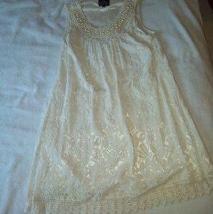 Angie woman's elegant beaded lace dress!